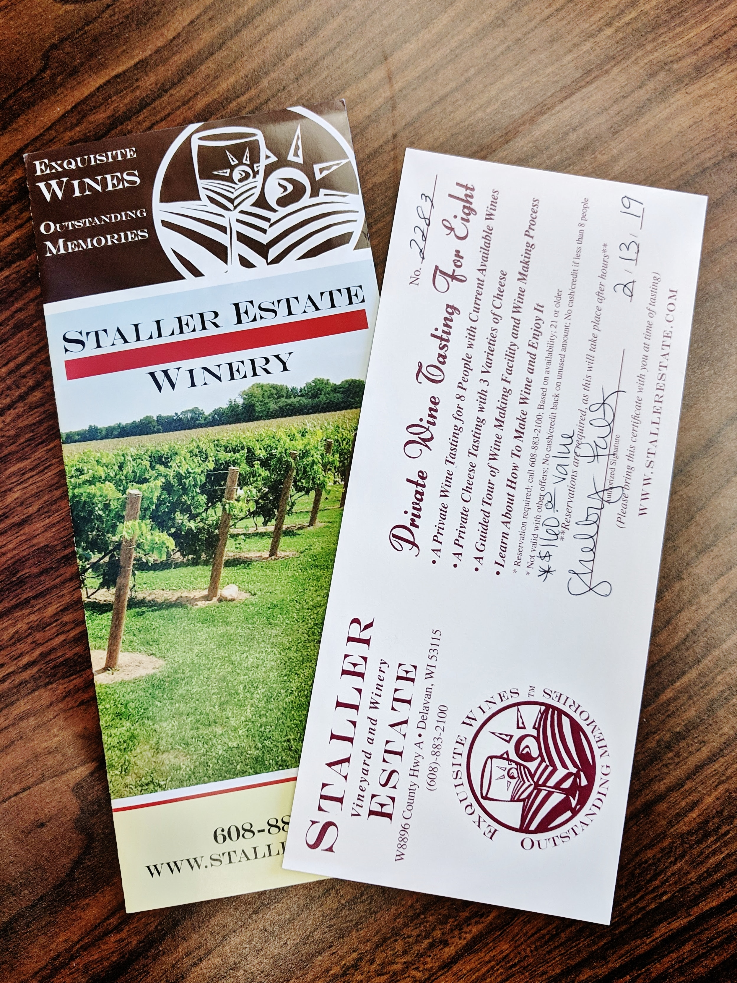 Private Wine Tasting for Eight at Staller Estate Winery in Delevan, WI