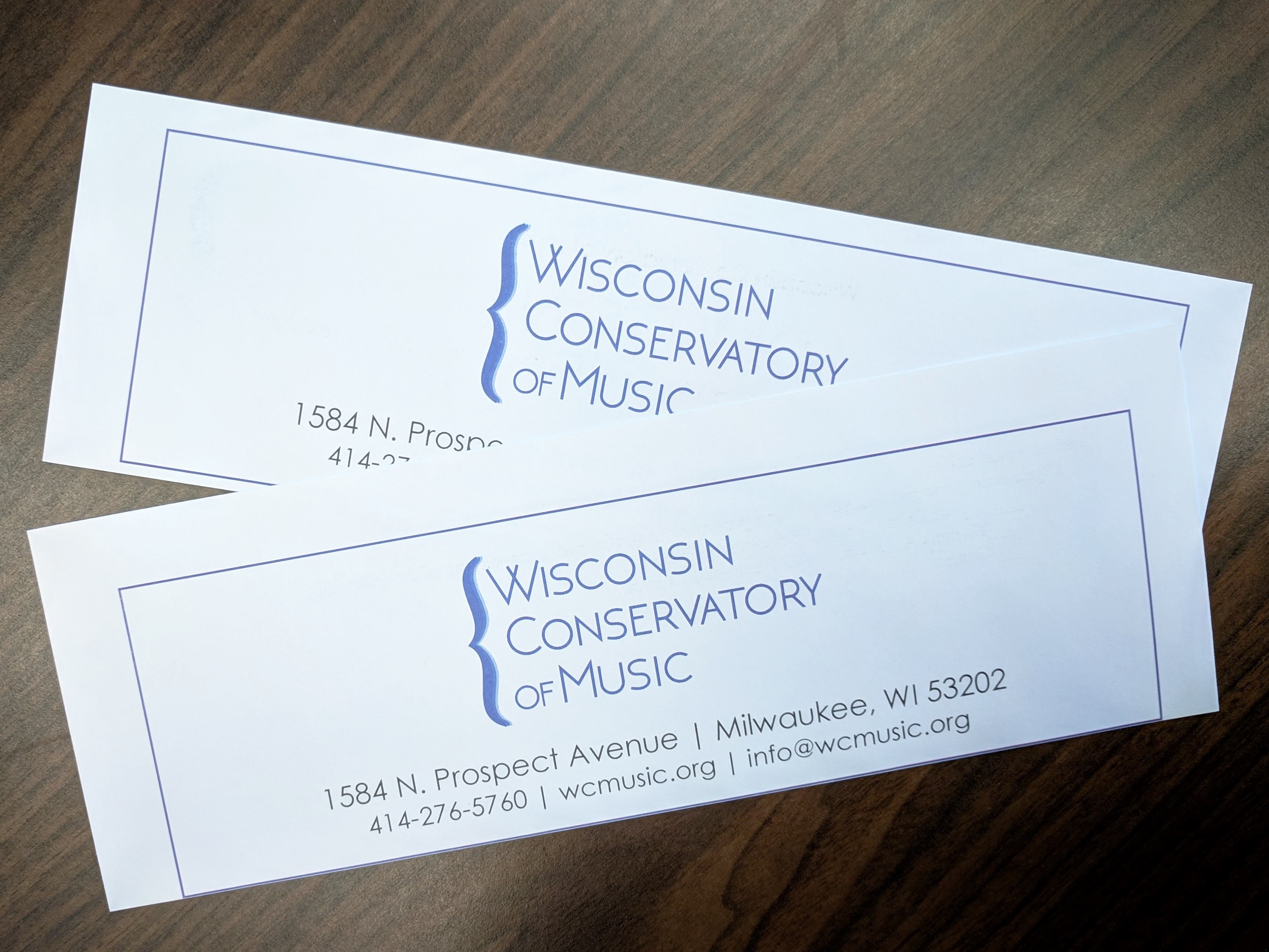 Two Tickets to the Wisconsin Conservatory of Music in Milwaukee, WI