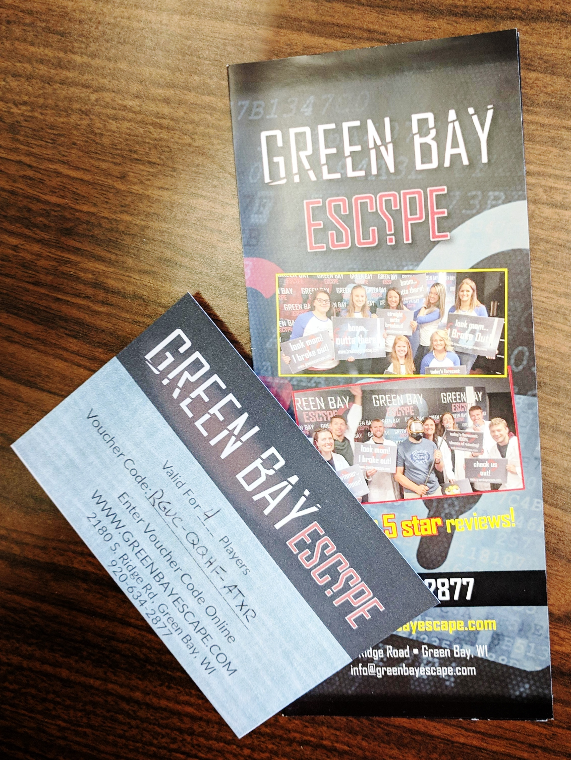 Admission for Four to Green Bay Escape