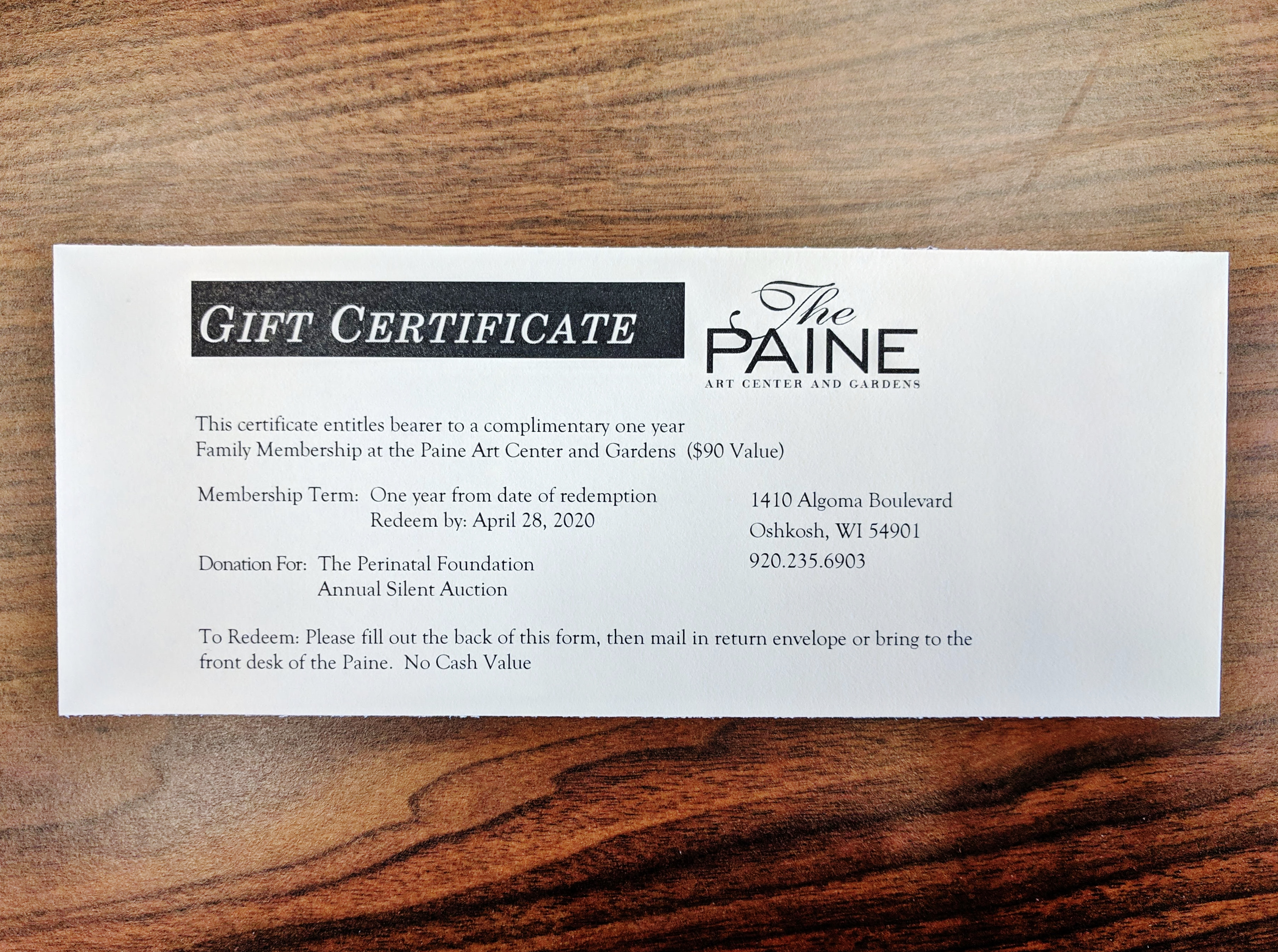 One-Year Family Membership to The Paine Art Center in Oshkosh, WI