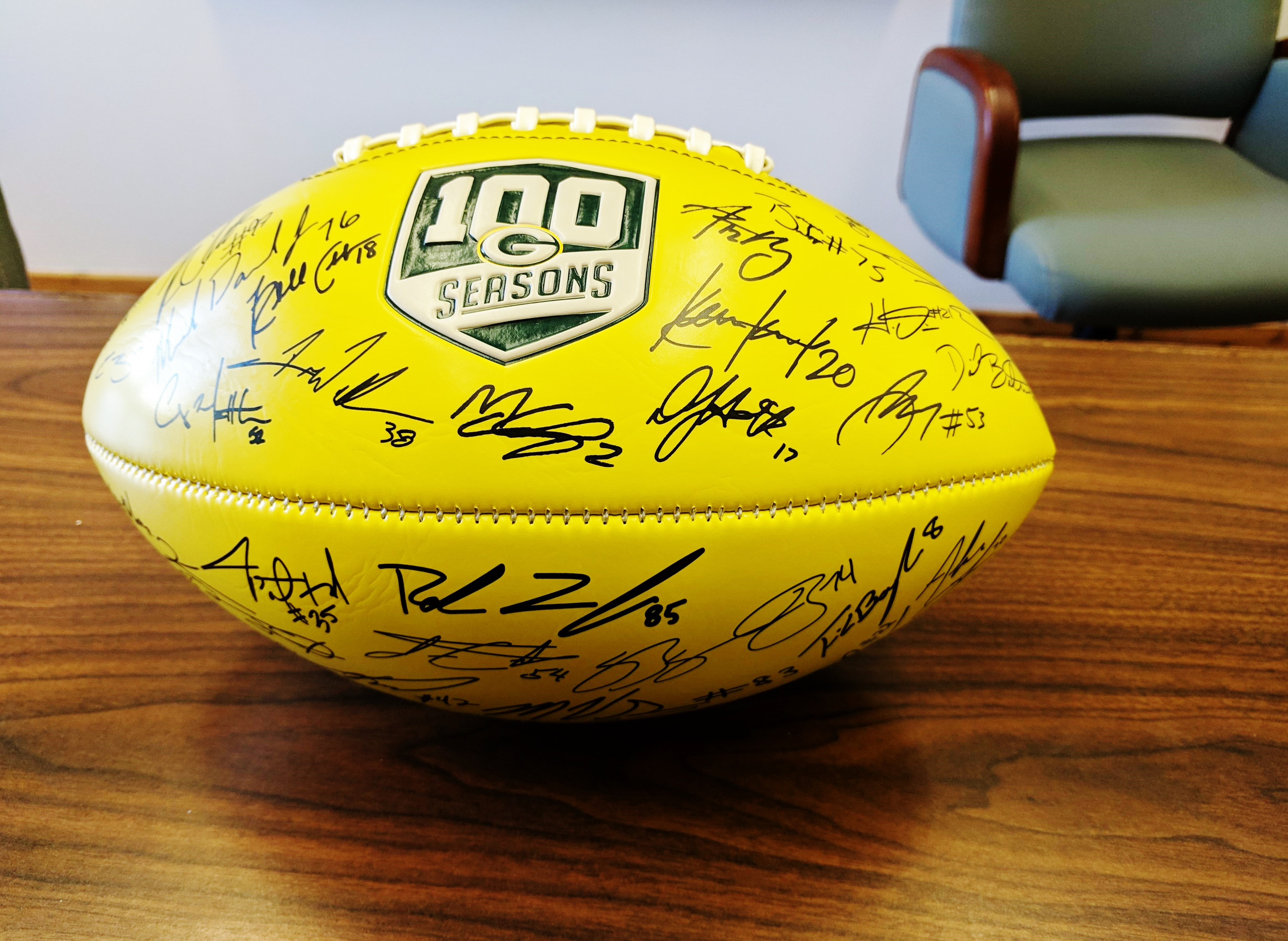 Signed Green Bay Packers Football