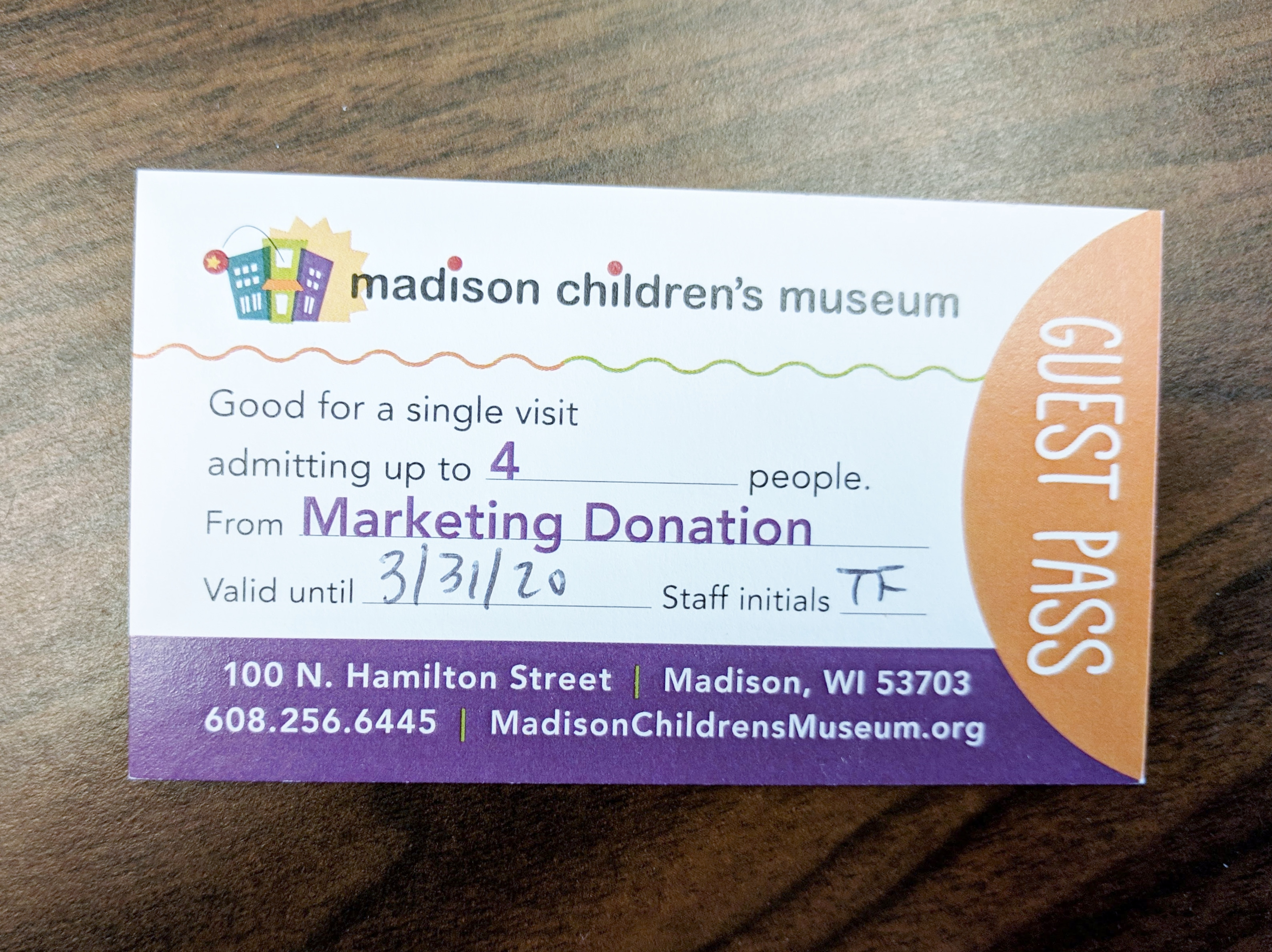 Admission for Four to the Madison Children's Museum