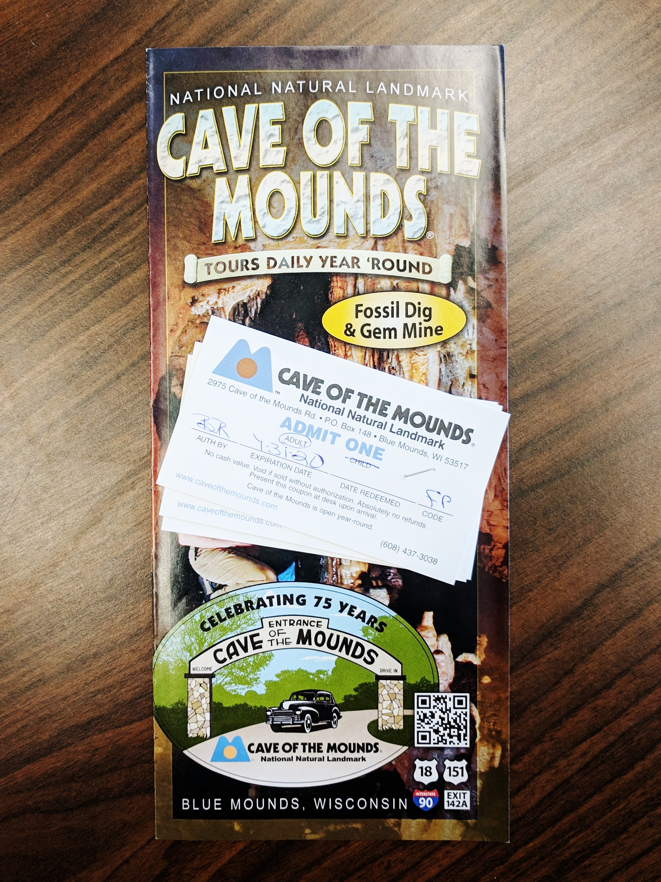 Admission for One Adult & One Child to Cave of the Mounds