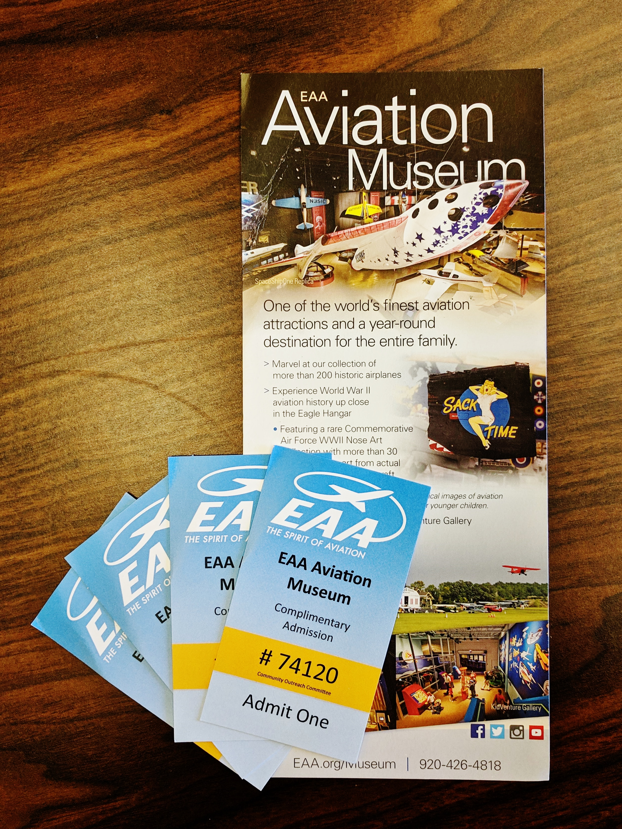 Admission for Four to the Experimental Aircraft Association (EAA) Aviation Museum in Oshkosh, WI